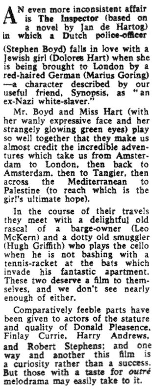 The Inspector review in The Sunday Telegraph 10 June 1962
