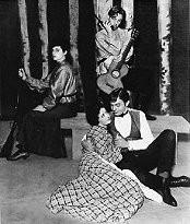 Marius Goring as Yepikhodov with James Mason & Elsa Lanchester in The Cherry Orchard 1933