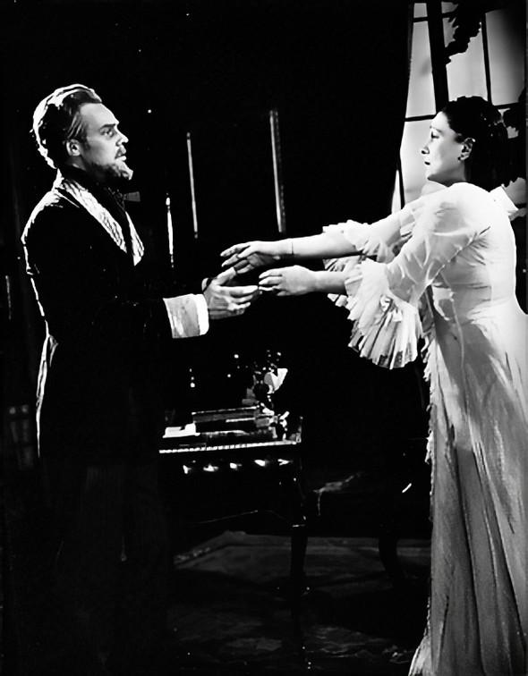 Marius Goring as Johannes Rosmer & Lucie Mannheim as Rebecca West in Rosmersholm 1948