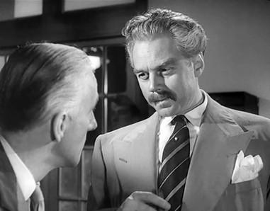 Wilfrid Hyde-White as Mr Luke and Marius Goring as Commandant Razinski in Highly Dangerous 1950