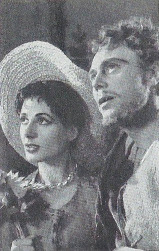 Marius Goring & Yvonne Mitchell in The Taming of the Shrew 1953
