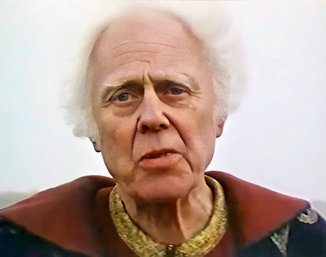 Marius Goring as Prospero in Gnostics 1987
