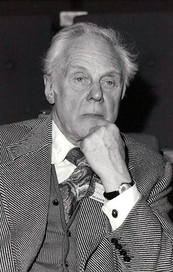 Marius Goring at a Trades Union Council meeting in the 1980s