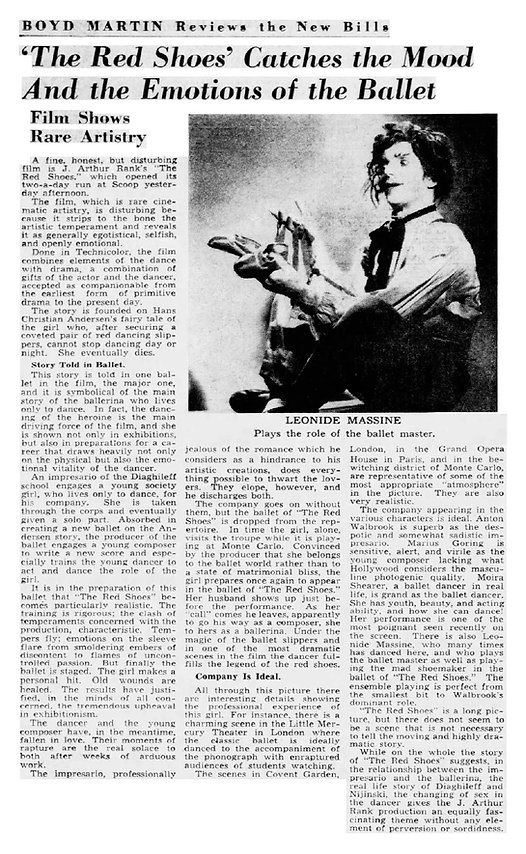 The Red Shoes review in The Courier Journal Louisville Kentucky 4 February 1949
