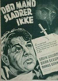 Dead Men Tell No Tales 1938 Danish film programme