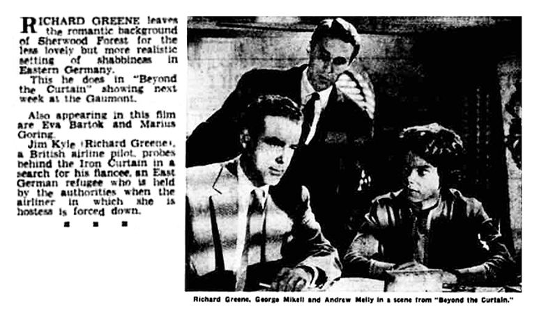 Beyond the Curtain article in the Aberdeen Evening Express 2 July 1960