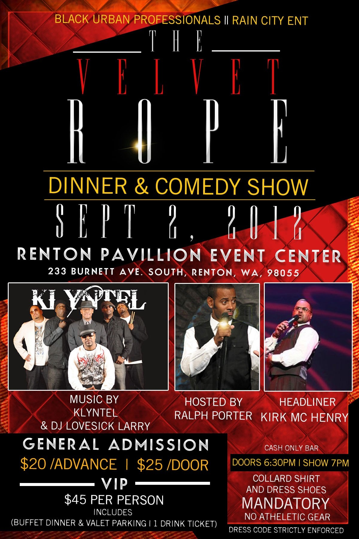 Velvet Rope Dinner and Comedy Show