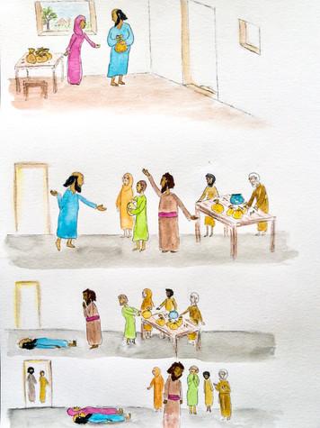 Ananias and Saphirra