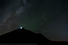 Perseids over Cribyn