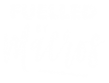 Fuelled By Macros Logo - White