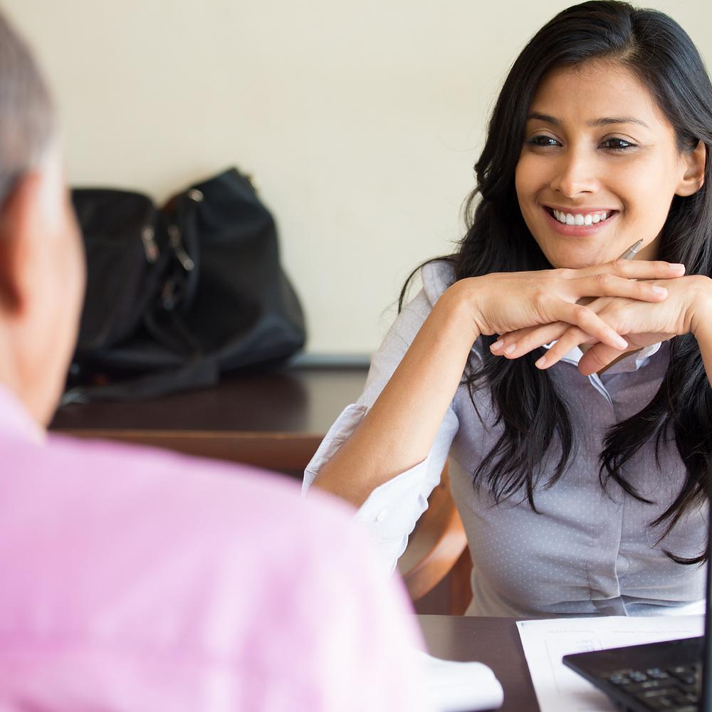 person offering non-verbal feedback