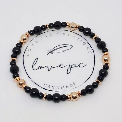 Noir Stacker Bracelet