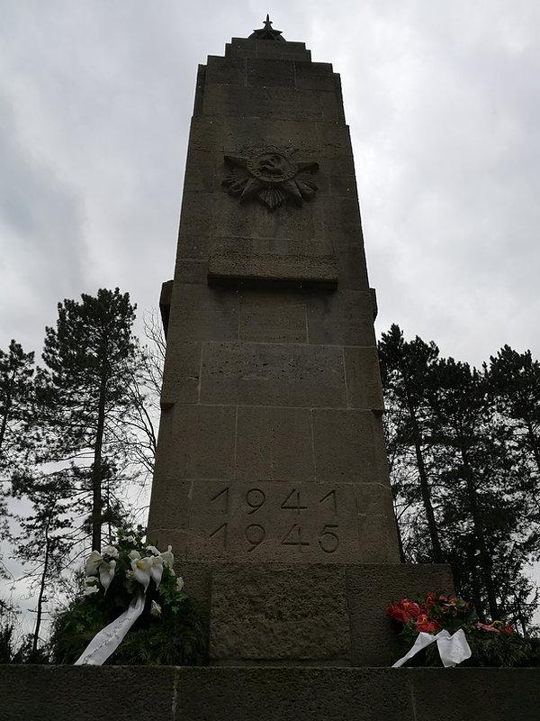 Памятник павшим в Великой Отечественной Войне на Восточном кладбище Лейпцига
