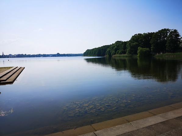 Равенсбрюк. Озеро Шведзее со стороны мемориала.
