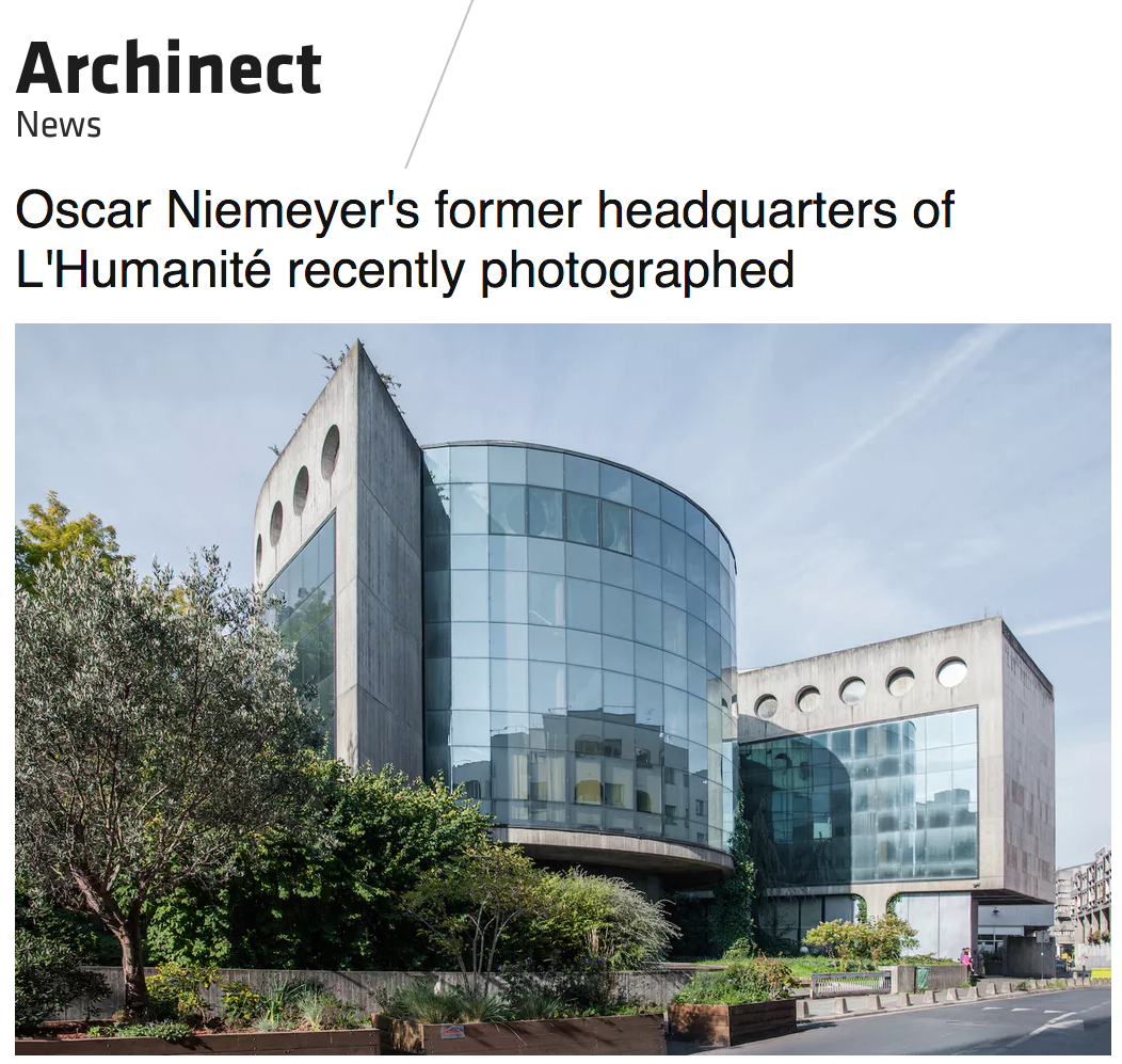 Oscar Niemeyer L'Humanité