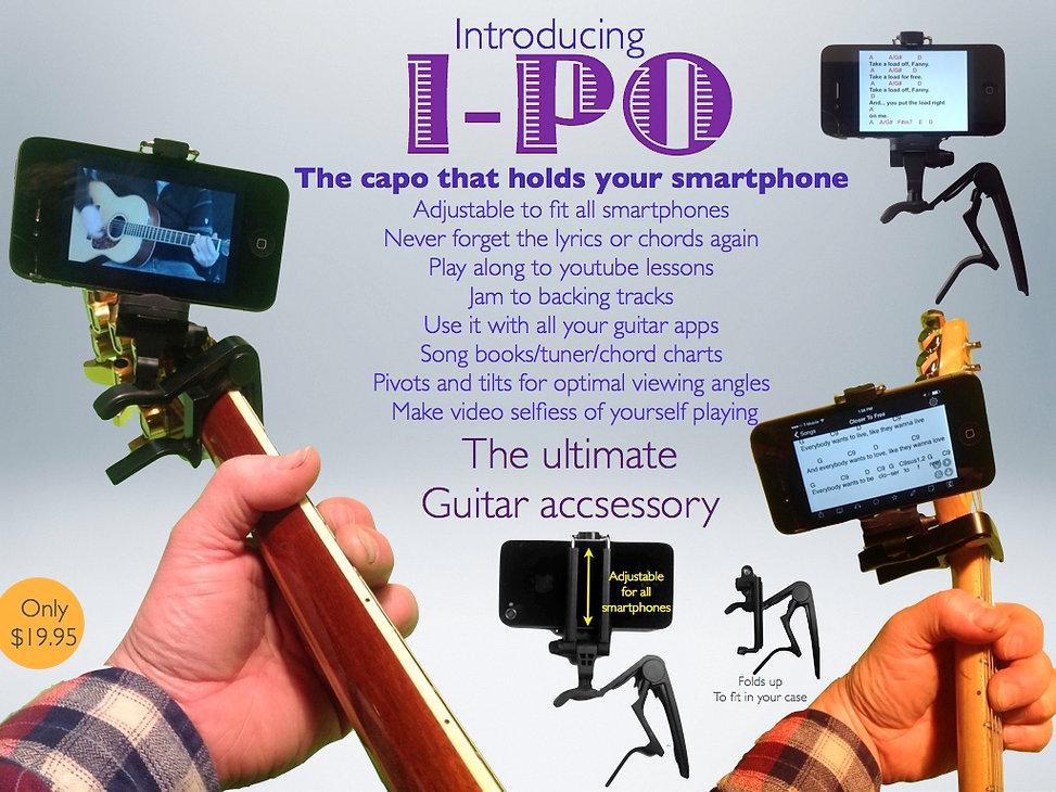 smartphone capo guitrar cellphone holder