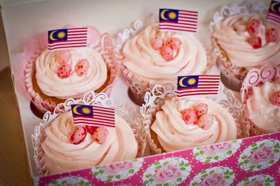 Lychee cupcakes