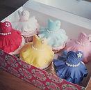 Vintage dress cupcakes