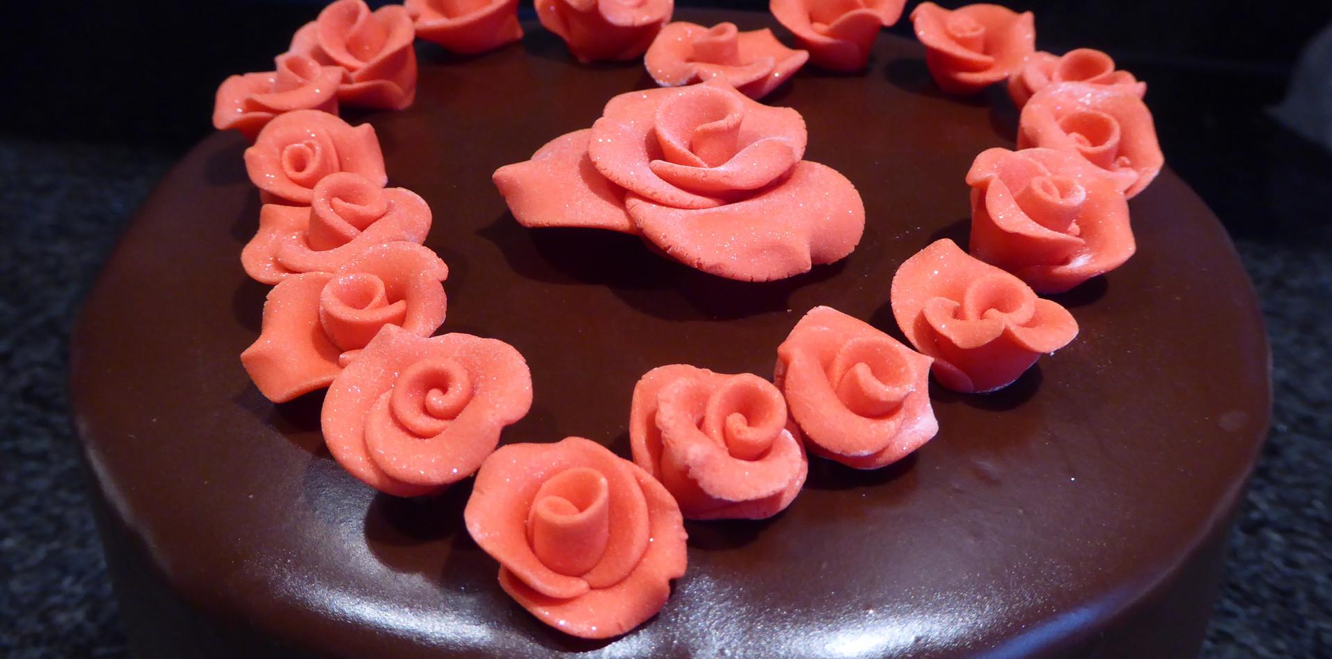 Valentine cake detail