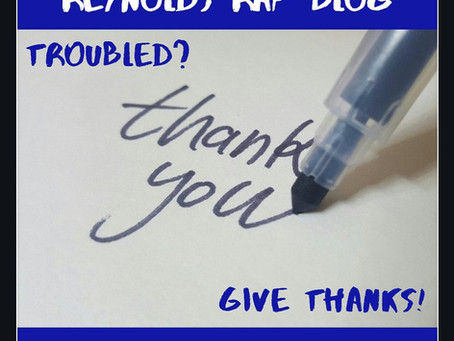 Troubled? Give Thanks!