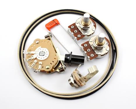 Premium Tele Wiring Kit w/ Bourns solid shaft