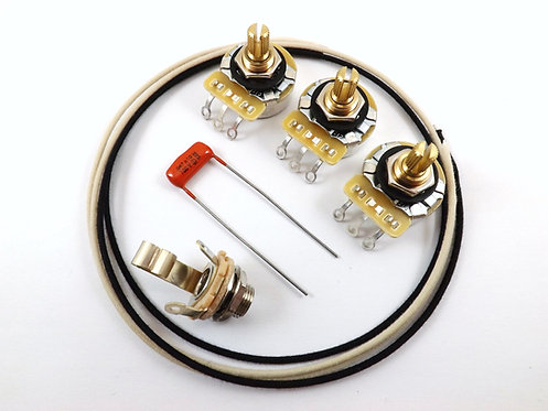 Premium J-Bass Wiring Kit w/split shaft
