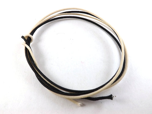Cloth covered push back wire 2' Black + 2' White