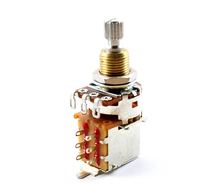 "Bourns Short 3/8"" Split Shaft 500K DPDT Push Pull Potentiometer"
