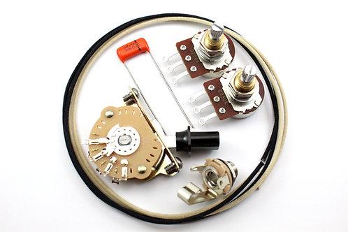 Premium Tele Wiring Kit w/ Bourns split shaft 18 Spline