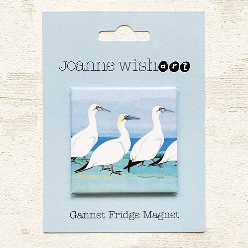 Gannet Fridge Magnet - Joanne Wishart