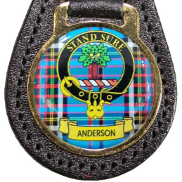 A-B Leather Key Fob Scottish Family Clan Crest
