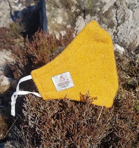 Yellow Harris Tweed Face Mask