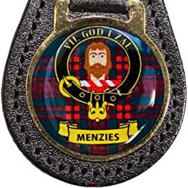 M - R Leather Key Fob Scottish Family Clan Crest