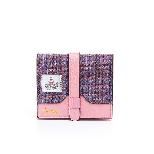Small Pink Dogtooth Leather Purse