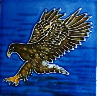 """White Tailed Eagle (Sea Eagle) 4""""x4"""" - Skye Tile"""