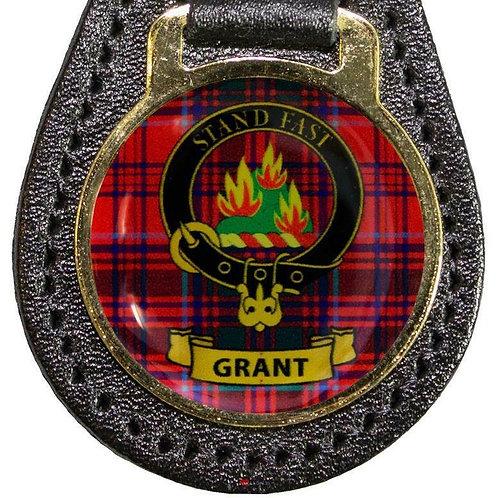 G-K Leather Key Fob Scottish Family Clan Crest