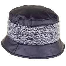 Amy Wax Harris Tweed Pleat Hat