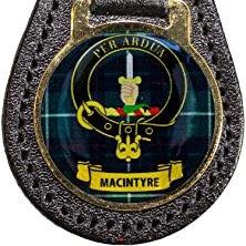 M Leather Key Fob Scottish Family Clan Crest