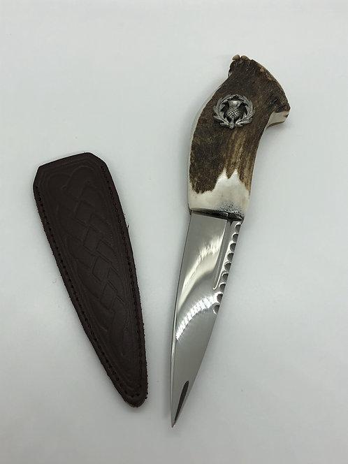 Sgian Dubh - Thistle Horn Handle - Abbeyhorn