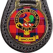 S - W Leather Key Fob Scottish Family Clan Crest