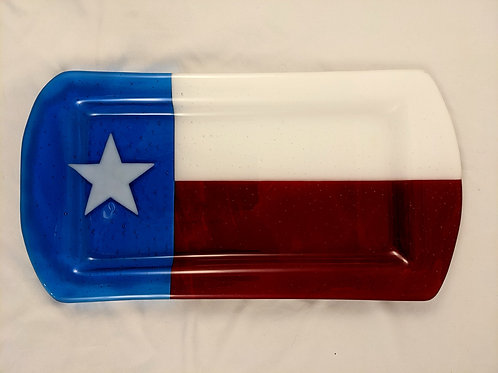 Texas Serving Tray Transparent Glass