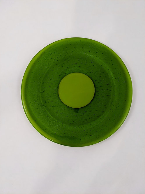 Plate Center Spring Green Surrounded by Transparent Green
