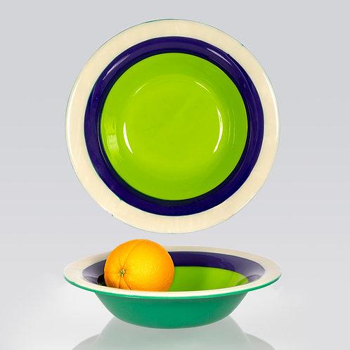 Bowl--Green, Blue, Vanilla