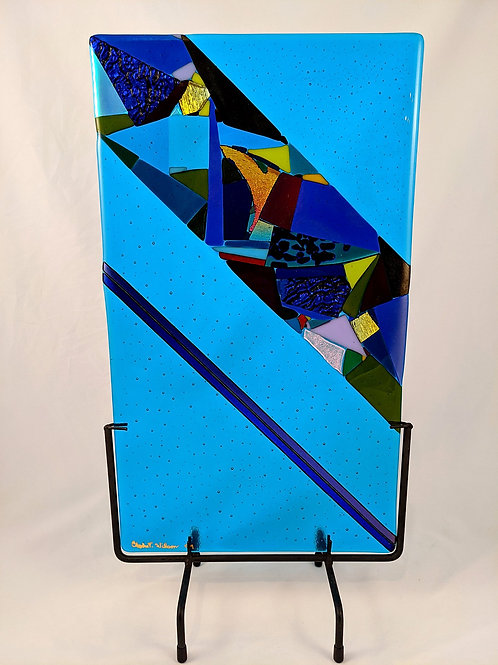 Turquoise Blue with Dicro Accent with stand