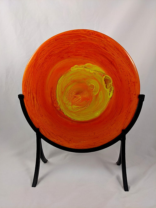 Orange and Yellow Pot Melt with Stand