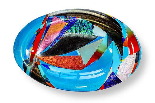 Mosaic Oval Turquoise Bowl
