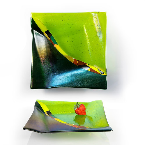 Green Origami Platter