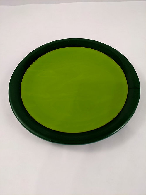 Plate Spring Green with Dark Green Rim
