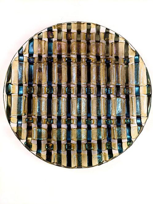 Aventurine Green Weave Plate