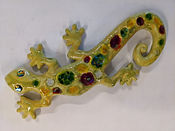 Yellow Gecko Glass and Ceramic